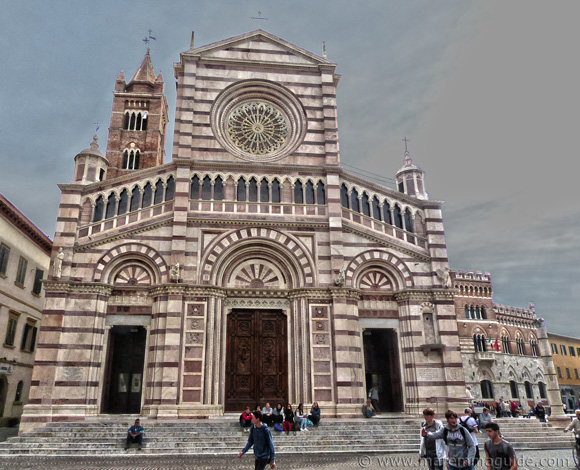 Grosseto cathedral facade.