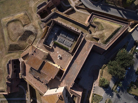 Grosseto Medici fortress: aerial view.