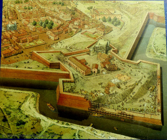 Grosseto Tuscany Italy Medici walls under construction between 1565 and 1625.