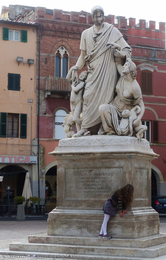 Grosseto Canapone monument to Leopold II of Lorena which tells the harrowing story of Maremma.