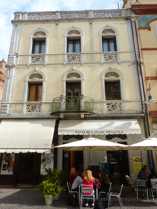 The Liberty Palazzo Tognetti in Grosseto Tuscany.