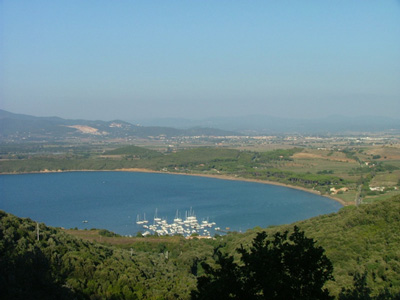 Gulf of Baratti - Golfo di Baratt - viewed from Populonia