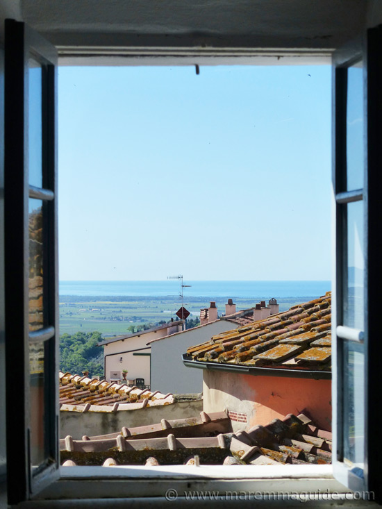Maremma Tuscany holiday home: the view.