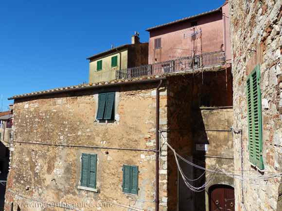 Campiglia Marittima rooftops.
