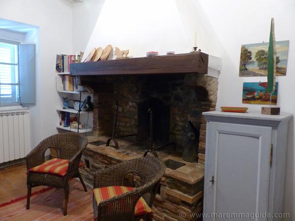 Tuscany fireplace.