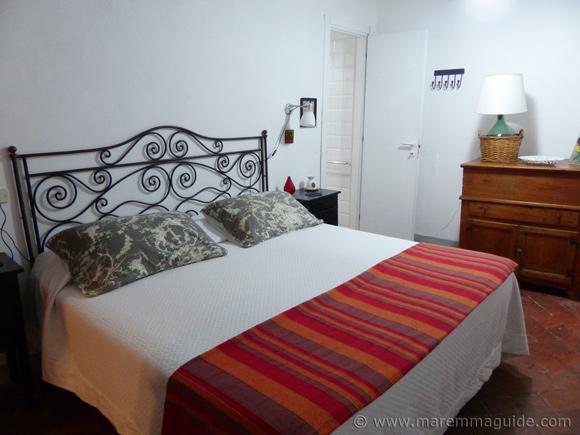 Maremma vacation rental: double bedroom.