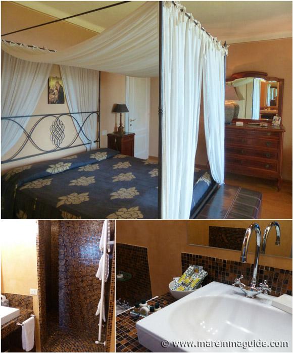 Holiday villa Tuscany ensuite bedroom