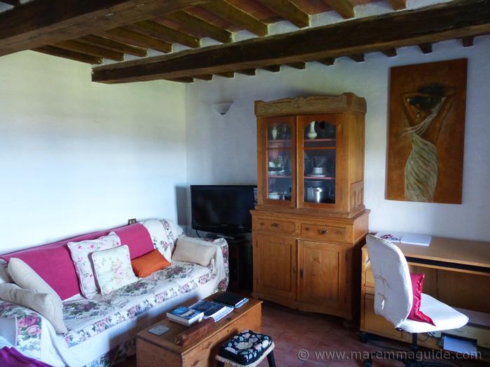 Podere Peroporcino living room.