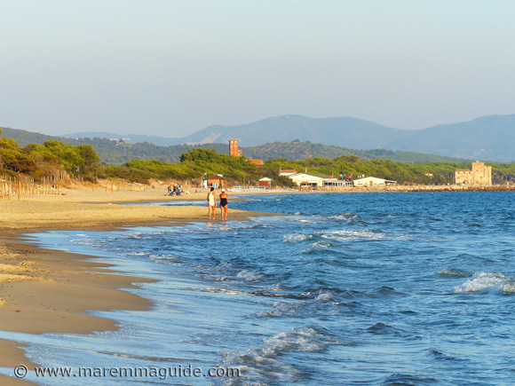 Il Pino beach in Maremma Tuscany in September