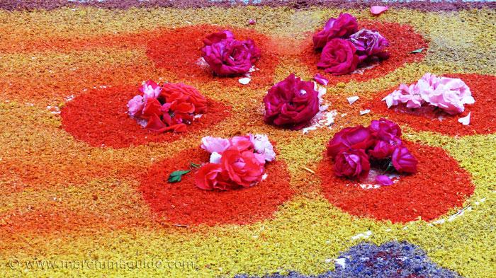 Infiorata di Pitigliano flower festival 2017.