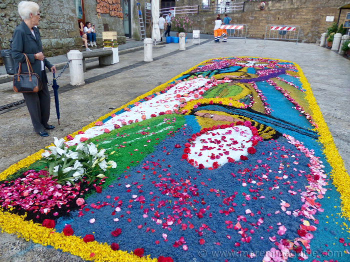 Infiorata flower design.