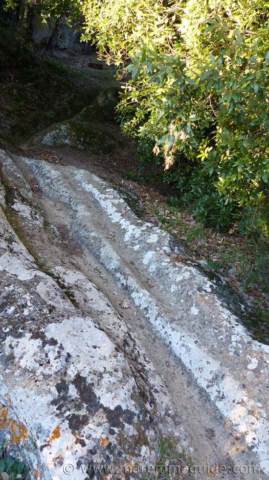 Etriscan water channels at Sorano Tuscany.