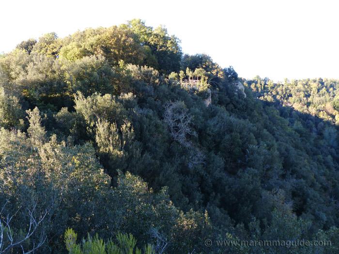 Insediamento rupestre di San Rocco at Sorano.