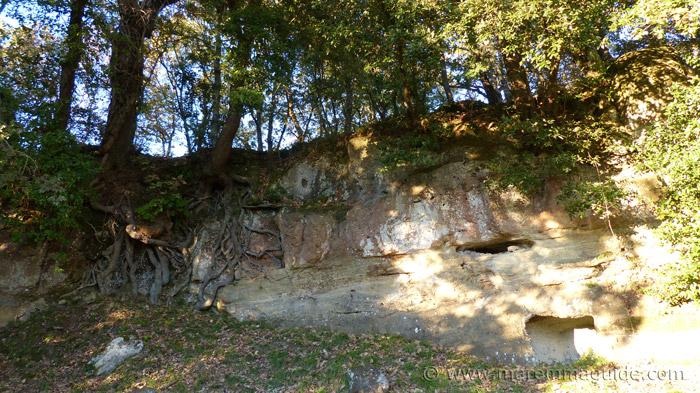 Ancient cave dwelling remains at Sorano.