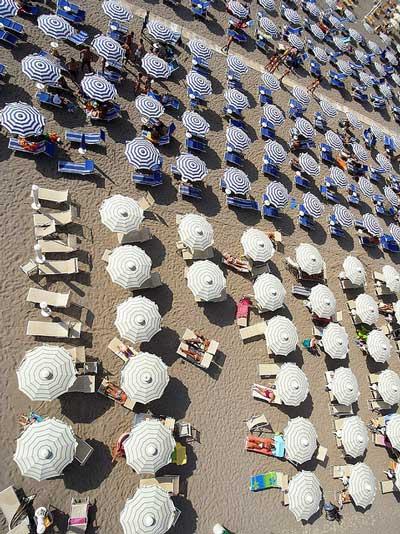 Italian beach parasols: Marina di Grosseto, Maremma