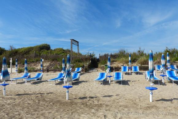 Italian beach Carbonifera, Piombino