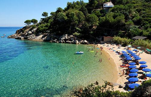 Italian beaches: Le Caldane, Isola del Giglio, Maremma, Italy