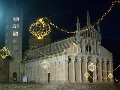 Italian Christmas lights in Maremma Italy