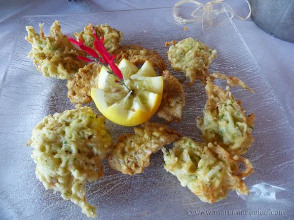 Italian fish appetizers.