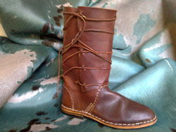 Handmade Italian leather boots from Maremma Tuscany Italy