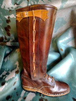 Italian made boots in leather from Maremma Tuscany Italy