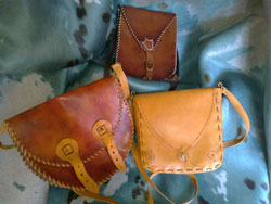 Italian made handbags in leather