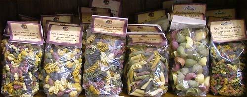 Italian Pasta shapes: pasta alle verdure e pasta speciale from La Novella, Maremma, Italy