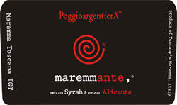 Maremma wine labels: Maremmante Maremma Toscana IGT wine label