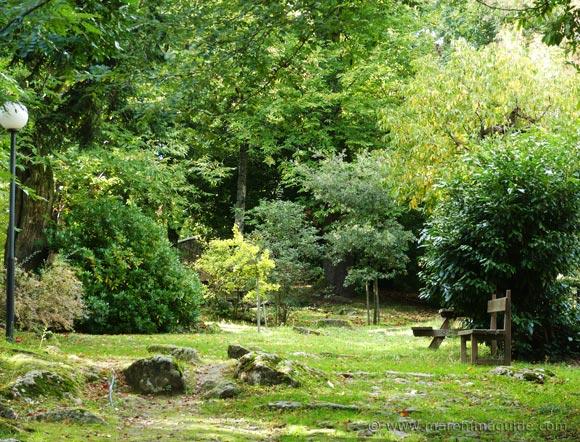 The Renaissance gardens of the Peschiera in Santa Fiora Tuscany.