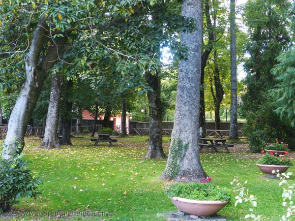 Peschiera gardens in Santa Fiora.