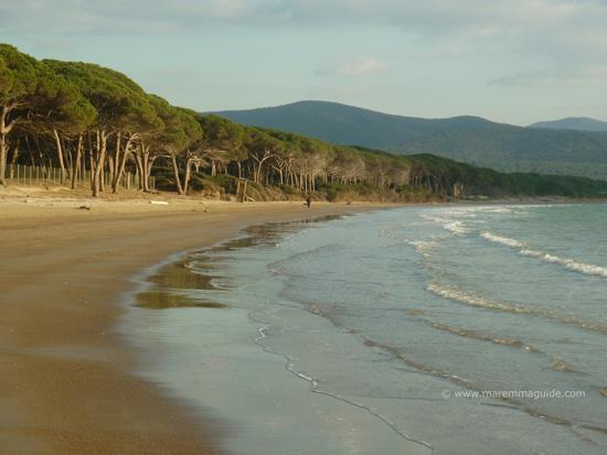 La Polveriera beach Scarlino Maremma Tuscany