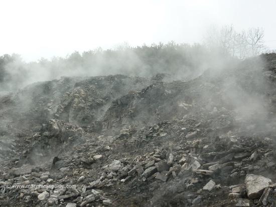 Fumaroles in Le Biancane Maremma Tuscany