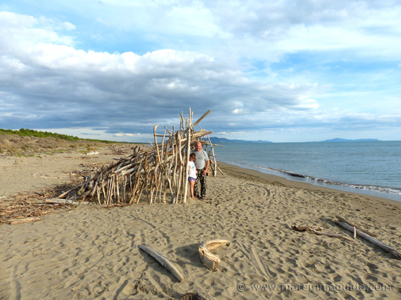 The finished beach house on le Marze beach Grosseto in Maremma
