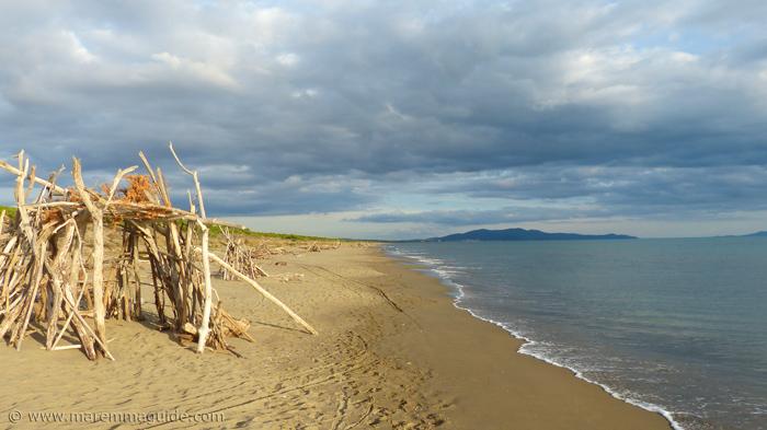 Le Marze beach Grosseto in Maremma Tuscany Italy