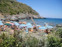 Le Viste beach. Monte Argentario, Maremma Italy