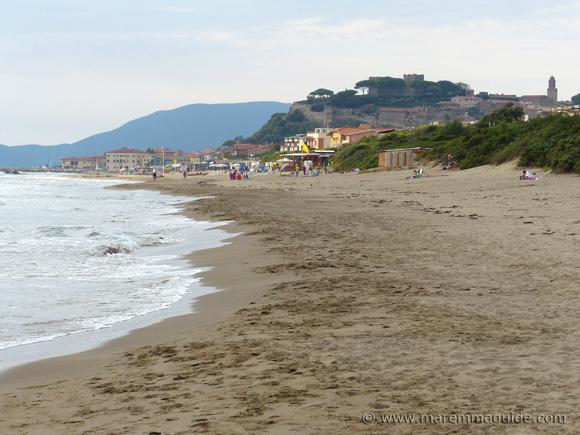 Levante beach Castiglione della Pescaia Maremma Tuscany.