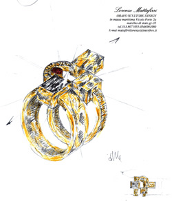 Goldsmith Jewellers in Maremma, Italy: A sketch by Lorenzo Mattafirri