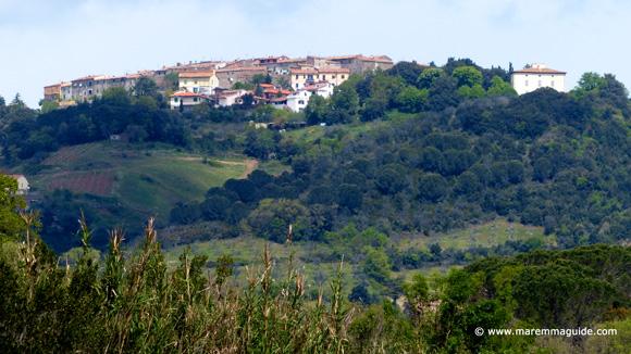 View of Lustignano near Pomerance Tuscany