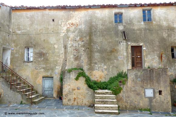 Old building in Lustignano Maremma Tuscany