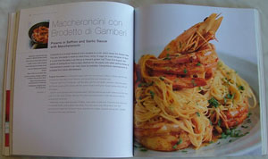 Maccheroncini con Brodetto di Gambderi: 100 Great Pasta Dishes Italian cook book by Ann and Franco Taruschio