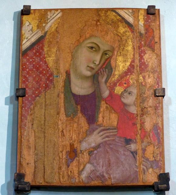 Madonna and child by Maestro si San Torpe Propositura di San Lorenzo Campiglia Marittima