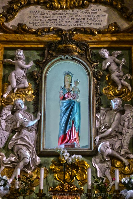 Madonna statue in Frassine Tuscany Italy