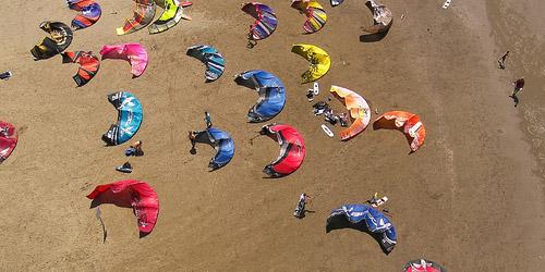 Maremma beach kitesurfing