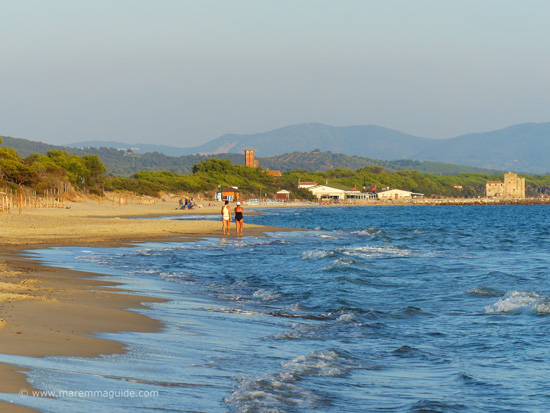Il Pino beach Maremma in September