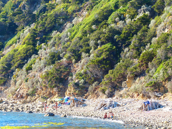 Maremma camping on the beach in Tuscany on a September afternoon