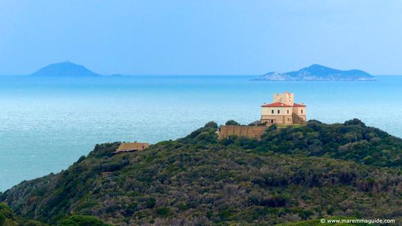 Maremma castles in Tuscany Italy