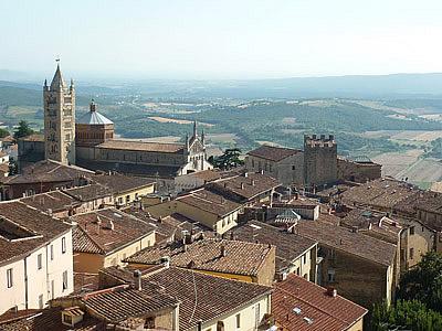Maremma Grossetana: view from Massa Marittima Tuscany Italy