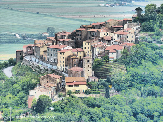Maremma hill towns in Tuscany and Lazio Italy
