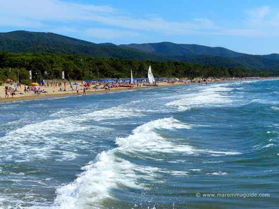 Maremma in June along Capanna Civinini beach near Punta Ala