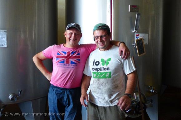Maremma winemakers in Montemerano Tuscany